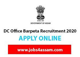 DC Office Barpeta Recruitment 2020 for Junior Assistant